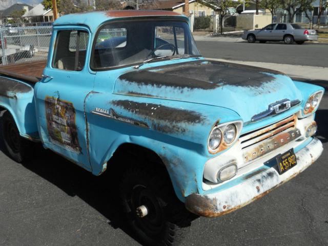 1958 Chevrolet Apache Napco 4x4 3100 w/65,633 orig miles for sale ...