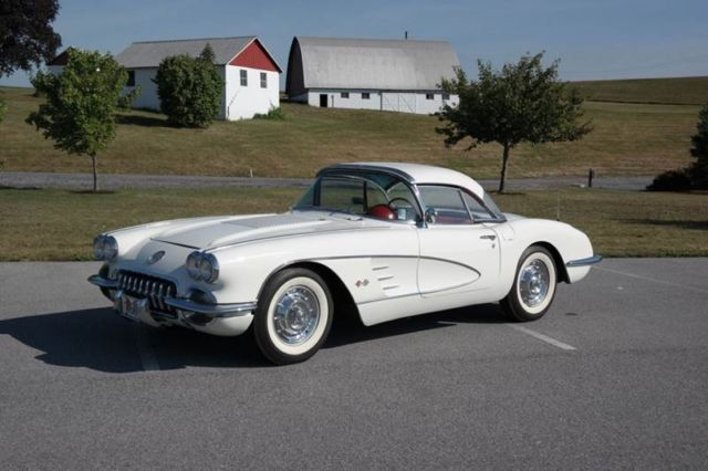 1958 Chevrolet Corvette White/Red Hard Top ONLY