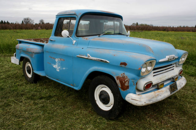 1958 Chevrolet Other Pickups Apache,3100,Half Ton,Short Bed, California Truck