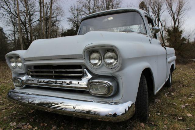 1958 Chevy Apache Short Bed Fleetside Big Window For Sale Photos