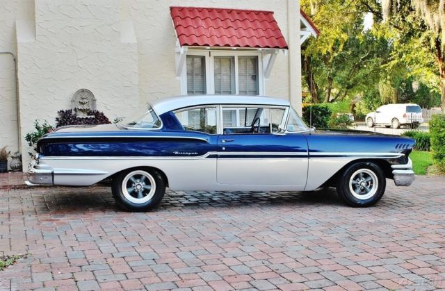 1958 Blue Chevrolet Biscayne Coupe with Other Color interior