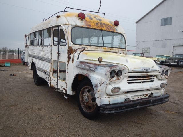 1958 CHEVY SCHOOL BUS FROM NEW MEXICO HOT RAT STREET ROD