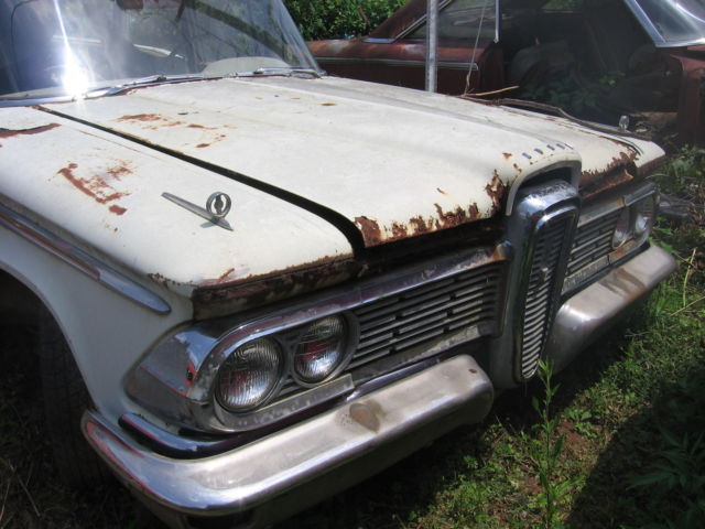 1958 Edsel Passenger Wagon Excellent Parts Car Rare 3speed On
