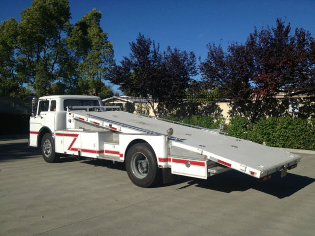 1958 ford c800 vintage cab over car hauler ramp truck coe former fire truck for sale photos