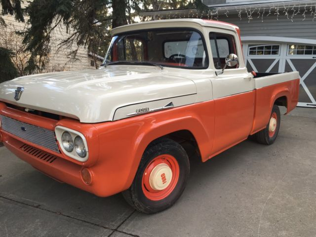 1958 Ford F100 Short Bed Pick Up Truck Very Solid Western