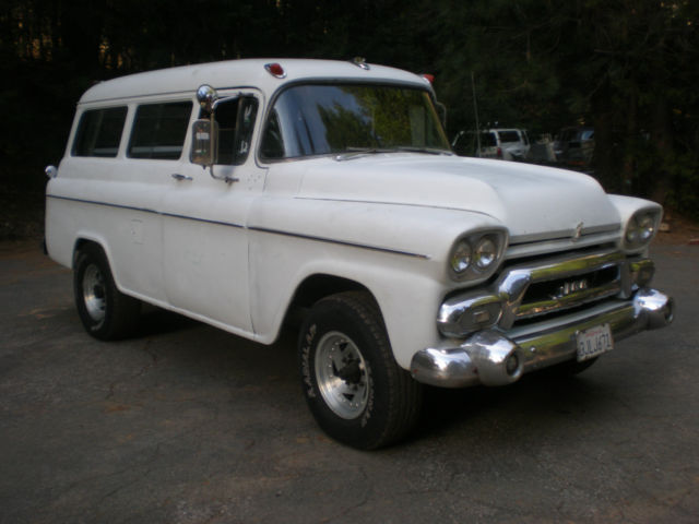 1958 GMC Other CARRYALL RARE 3DR CHEVY V8 HOT ROD 4 SPEED POSI CA