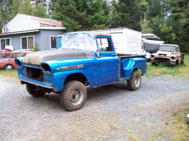 1959 1958 Chevrolet 12t Shortbed 4x4 Pickup Project Like Apache