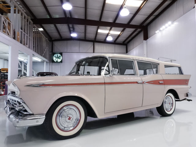 1959 AMC RAMBLER 6 CROSS COUNTRY WAGON CUSTOM RARE 6-PASSENGER WAGON!