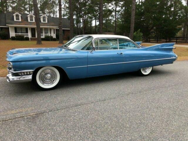 1959 Blue Cadillac DeVille Coupe DeVille Power steering, brakes, windows,seat COUPE with Blue interior
