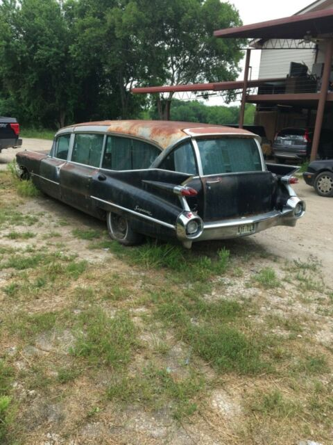 1959 Black Cadillac Commercial Chassis Hearse with Gray interior