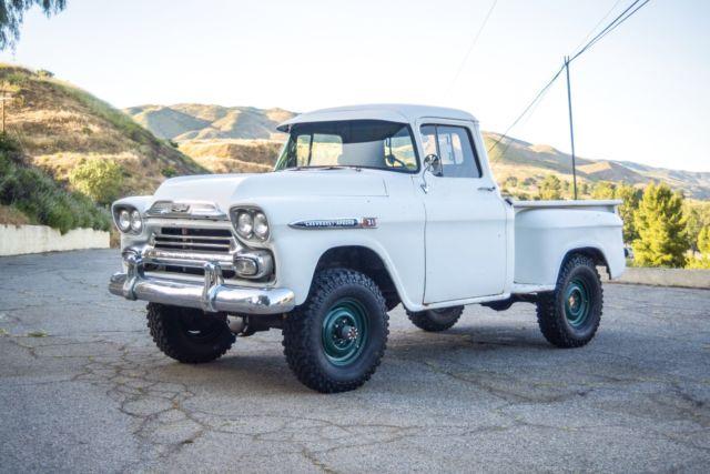 1959 Chevrolet Apache 31 Napco 4x4 Truck Pickup 327 V8 1958 1957