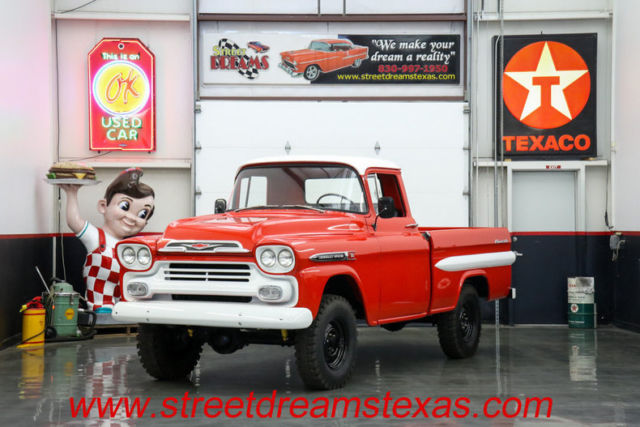 1959 Chevrolet Apache 5 Miles Red 327 V8 4 speed Manual for sale