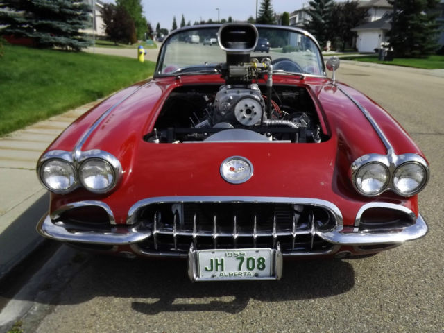 1959 Chevrolet Corvette with 350 & 671 Blower Supercharger for sale