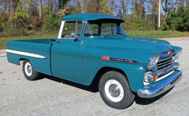 1959 Chevy Apache 32 Fleetside Pick Up For Sale Photos Technical