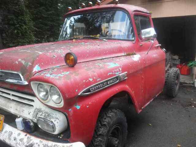 1959 Chevy Apache NAPCO N A P C O  4x4 Chevrolet truck for sale