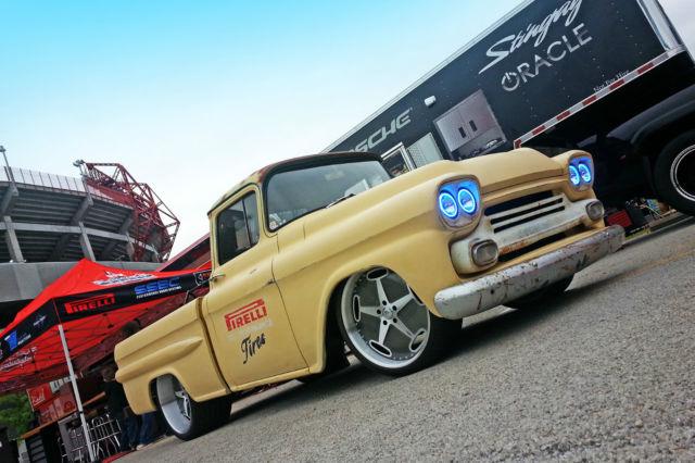 1959 Chevy Apache Pirelli tires Vintage delivery shop ...