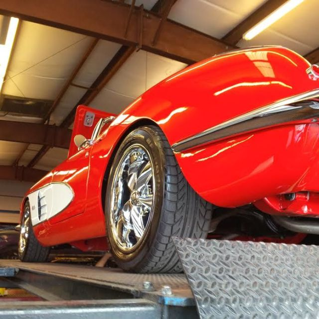 1959 Corvette Convertible Show Quality Red White Coves Red Black Interior For Sale Photos