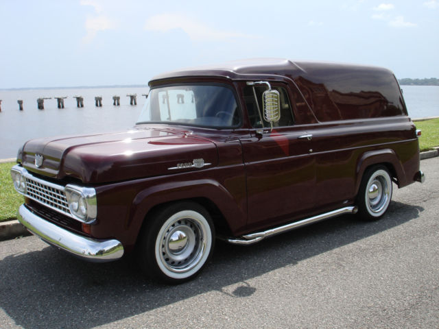 72149 1959 Ford Panel Truck Delivery Pro Touring Streetrod Everyday Driver Street Rod on 2002 chevy truck seats