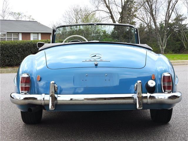1959 Blue Mercedes-Benz 190-Series Cabriolet -- with Gray interior
