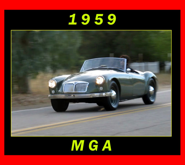 1959 MG MGA MG A 1500 *NO RESERVE*
