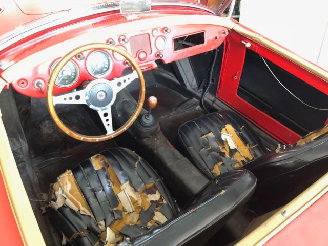 1959 Red MG MGA Convertible with black interior