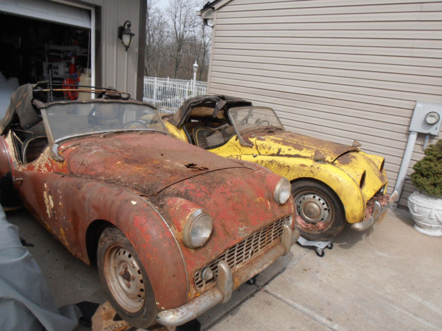 1960 1959 Triumph Tr3 2 Cars One Price For Sale Photos Technical