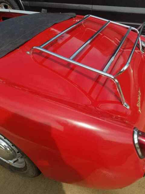 1960 Red Austin Healey Sprite Convertible with Black interior