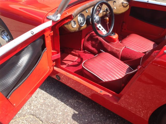 1960 Red Austin Healey Sprite Sprite / Bug Eye Convertible with Red interior
