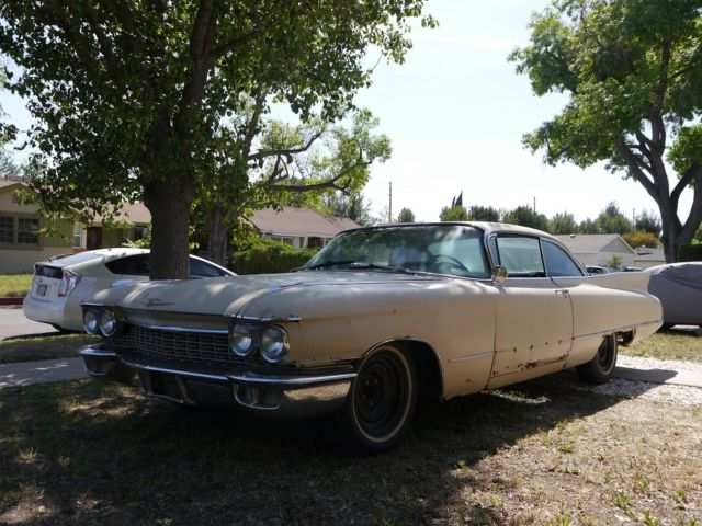 1960 Cadillac 2 Dr Coupe Deville 6337 Project For Sale