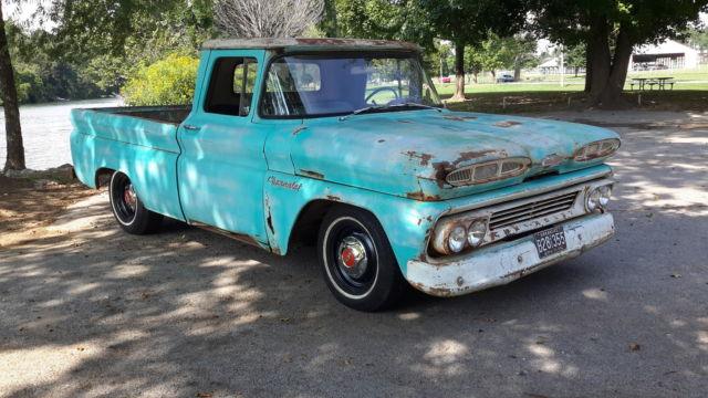 1960 chevrolet apache short wide bed fleetside patina shop truck farm pickup for sale photos. Black Bedroom Furniture Sets. Home Design Ideas