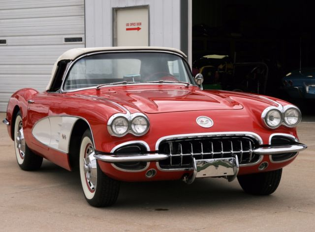 1960 ROMAN RED Chevrolet Corvette with RED interior