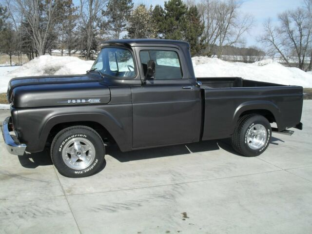 1960 Gray Ford F-100 SHORT BOX Standard Cab Pickup with Black interior