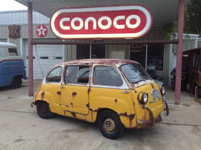 1960 Fiat Multipla 600 Rare Barn Find Micro Car Isetta Subaru 360 European Mini