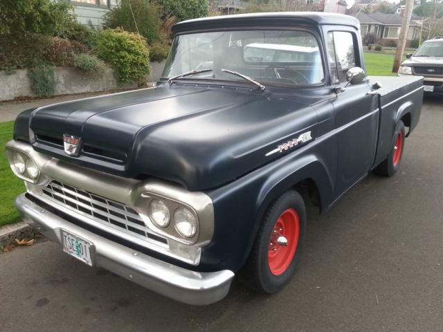 1960 ford f 100 hot rod pick up truck for sale photos technical specifications description. Black Bedroom Furniture Sets. Home Design Ideas