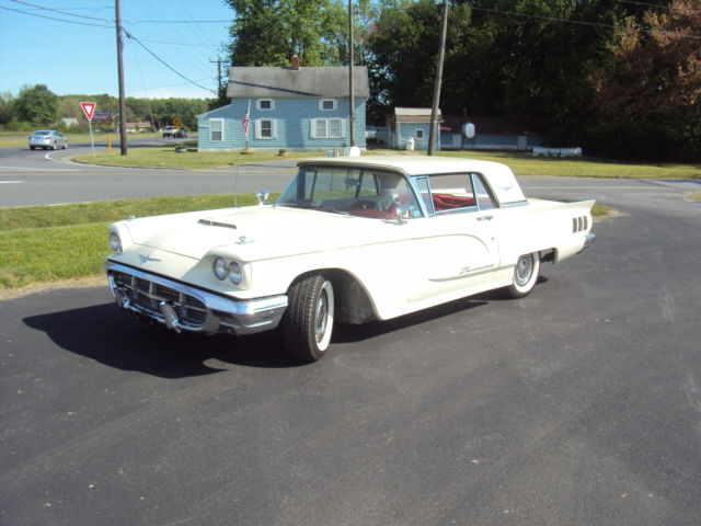 1960 Ford Thunderbird Ford Tbird Beautiful Pearl White Color