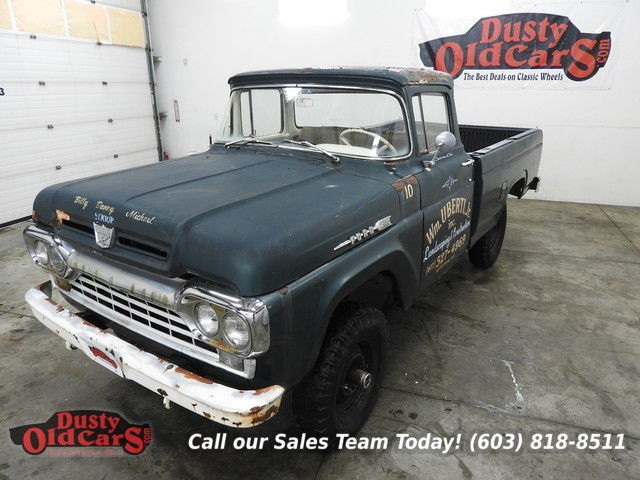 1960 Ford F-100 Runs Drives Body Inter Good 223I6 4wd Manual
