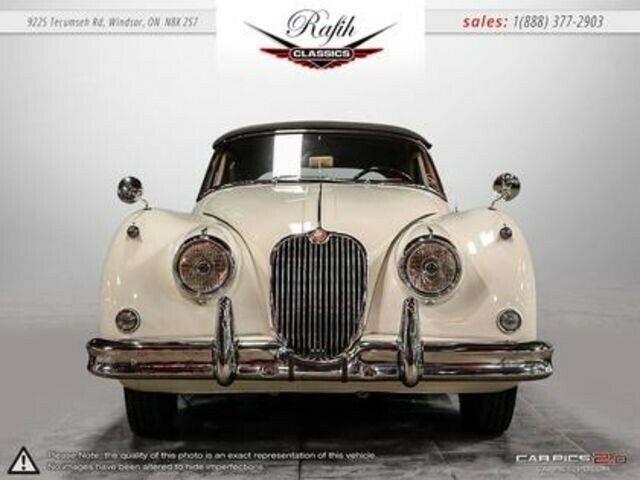 1960 White Jaguar XK XK 150 308 DROPHEAD COUPE -- with -- interior