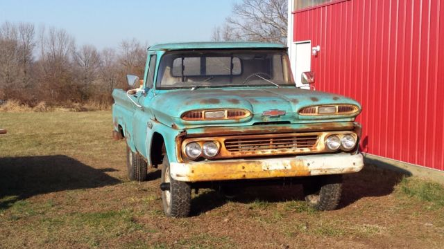 1960 K10 Chevrolet Apache Short Bed Fleet Side Very Rusty But Very