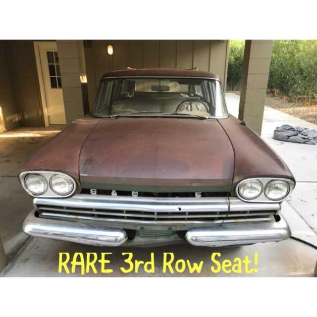1960 Rambler Wagon Rare 3rd Row Rear Facing Seat Side Opening