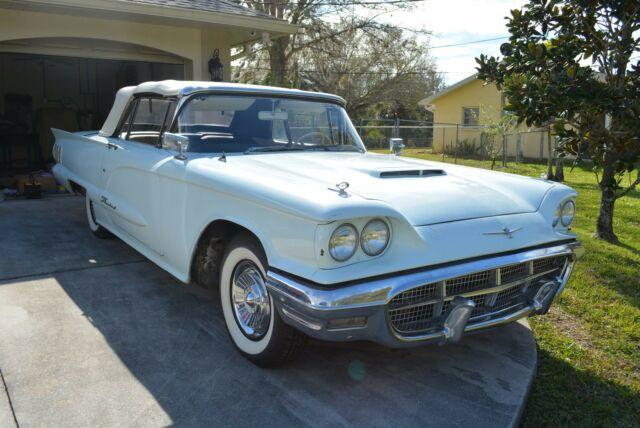 1960 Thunderbird Convertible Blue White No Reserve