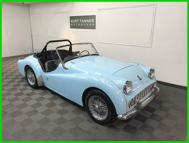 1960 Triumph TR3 4-SPEED, 72-SPOKE CHROME WIRES. ADJUSTABLE STEERING.