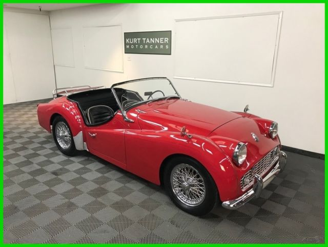 1960 Triumph TR3 60-SPOKE CHROME WIRE WHEELS. 4-SPEED, FULL-SYNCROMESH