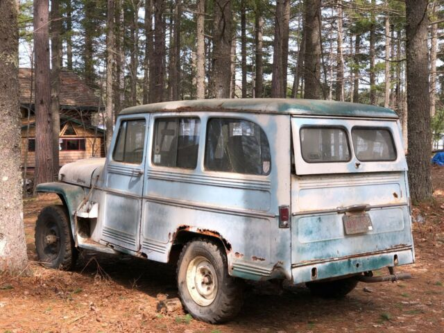 1960 Blue Willys Station Wagon
