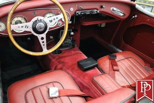 1961 Black Austin Healey 3000 Mk 1 2 Dr Roadster with Red interior