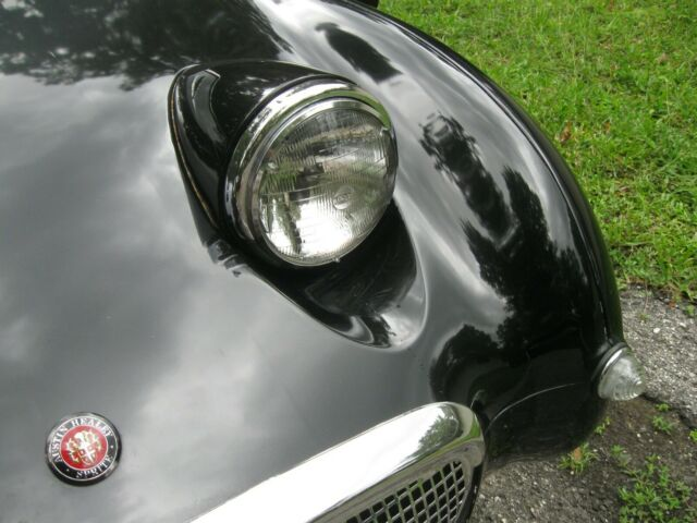 1961 Black Austin Healey Sprite Convertible with grey/black interior