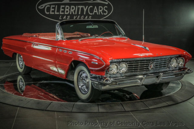 1961 Red Buick Invicta Convertible with Red interior