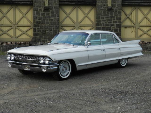 1961 Cadillac deVille u2013 6339 Series (4 door deVille 6 window sedan) White/Black & 1961 Cadillac deVille u2013 6339 Series (4 door deVille 6 window sedan ... pezcame.com