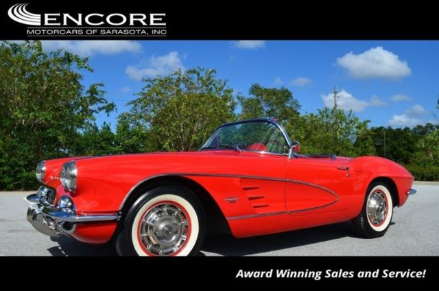 1961 Chevrolet Corvette Convertible W/ 283/270 HP 2X4 Carburetors