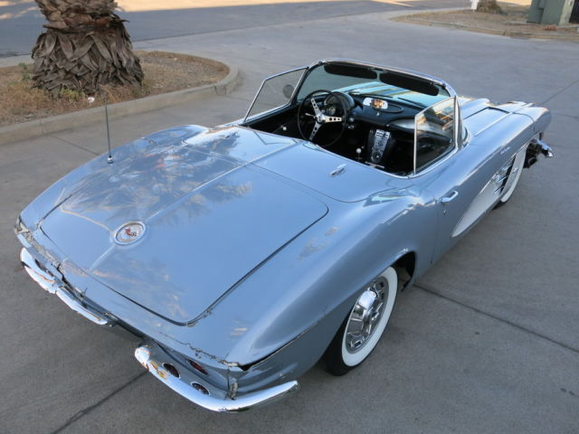 1961 Chevrolet Corvette Project Car For Sale: 1961 Chevy Corvette Fuel Injected Fuelie Damaged Wrecked