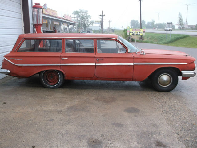 1961 chevy parkwood bel air station wagon v8 automatic very original patina for sale photos. Black Bedroom Furniture Sets. Home Design Ideas